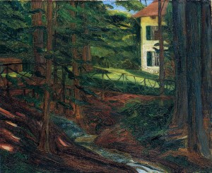 Fig. 1 Wilhelm Trübner, View of the Villa Goes on Lake Starnberg, 1912, oil on canvas, 41 x 51 cm. Private collection